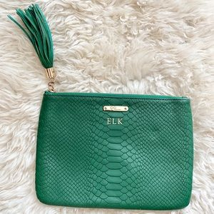 Gigi NY All In One Green Embossed Leather Bag